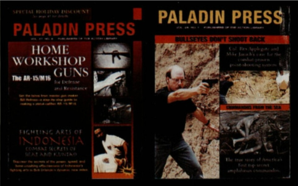 Noen av utgivelsene til det kontroversielle forlaget Paladin Press.