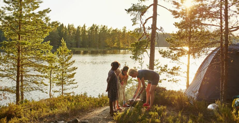 FAMILIEFERIE: Camping i Sverige er både enkelt og spennende.
