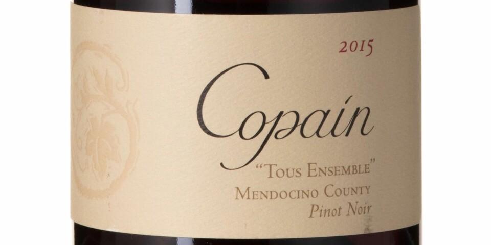 GODT KJØP: Copain Tous Ensemble Pinot Noir 2015. Foto: Vinmonopolet