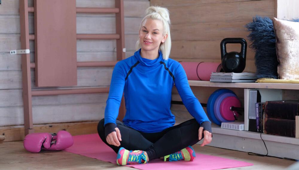 Christina Fraas skapte seg et hjemmegym for å kunne trene slik det passet henne, når det passet henne. Treningsutstyret kjøpte hun for en rimelig penge på FINN.no.
