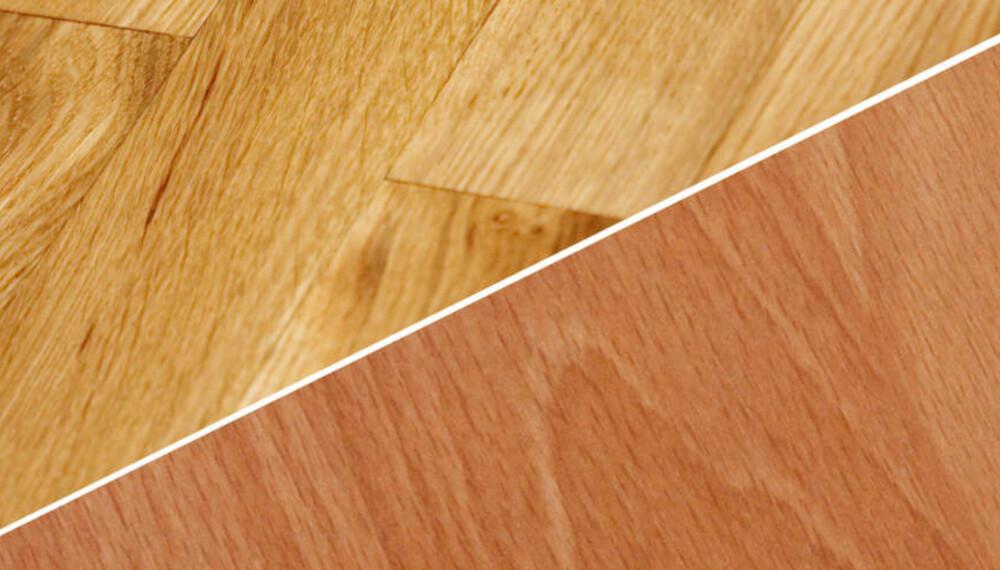 PARKETT ELLER LAMINAT: Når du skal velge gulv, burde du først å velge et utseende du liker, og deretter undersøke om det er tilgjengelig både i parkett og laminat.