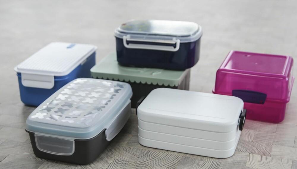 TEST AV MATBOKSER FOR BARNEHAGEBARN: Den beste matboksen tåler maskin og kulde, og den er lett å bruke for små barn. Det kan ikke sies om alle matboksene. FOTO: Øyvind Lie