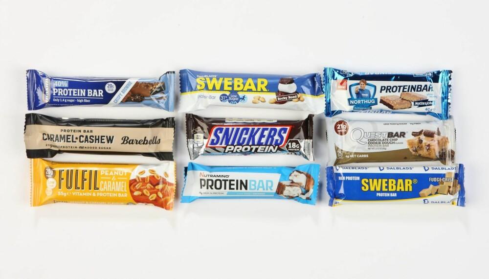 NYTTIG ELLER OVERFLØDIG? En god proteinbar kan være et godt tilskudd når du ikke rekker et mer tidkrevende måltid. Men satyr unna dem med mye sukker og mettet fett. FOTO: Petter Berg