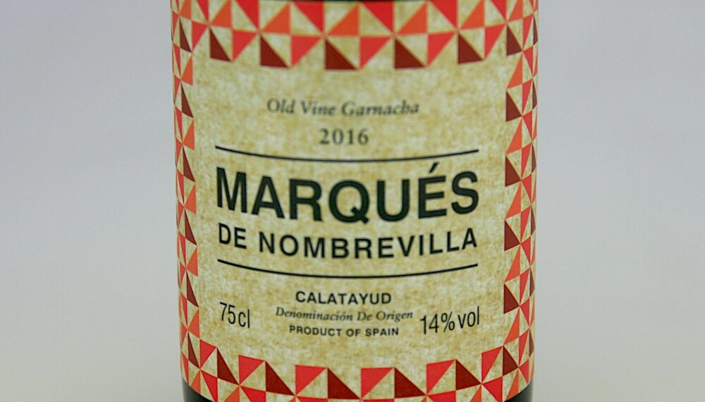 GODT KJØP: Marqués de Nombrevilla Old Vines Garnacha 2016. Foto: Arnie Stalheim