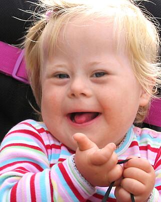 GODJENTA: Frem til hun var tre og et halvt år hadde Helene lyse lokker. Men da hun begynte i barnehagen, mistet hun håret
