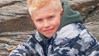 Godgutten Haakon: 10 år gammel, her på stranda. Foto: Privat