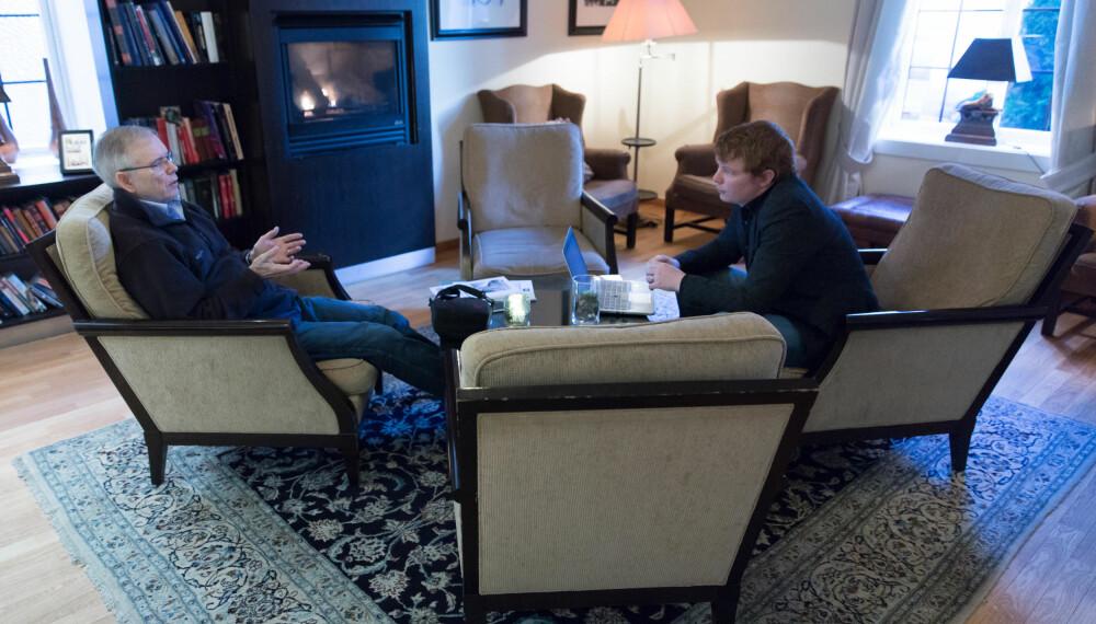 Bergsmark under Det store intervjuet på Gabelshus hotell.