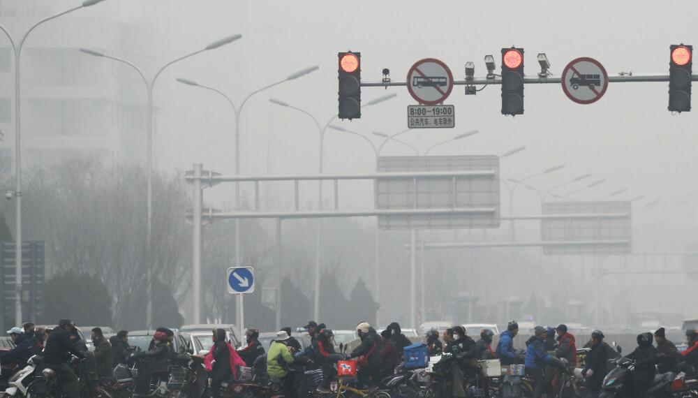 Beijing er en av byene som virkelig sliter med luftkvaliteten som følge av forbrenning av store mengder kull og kraftig økende trafikk.