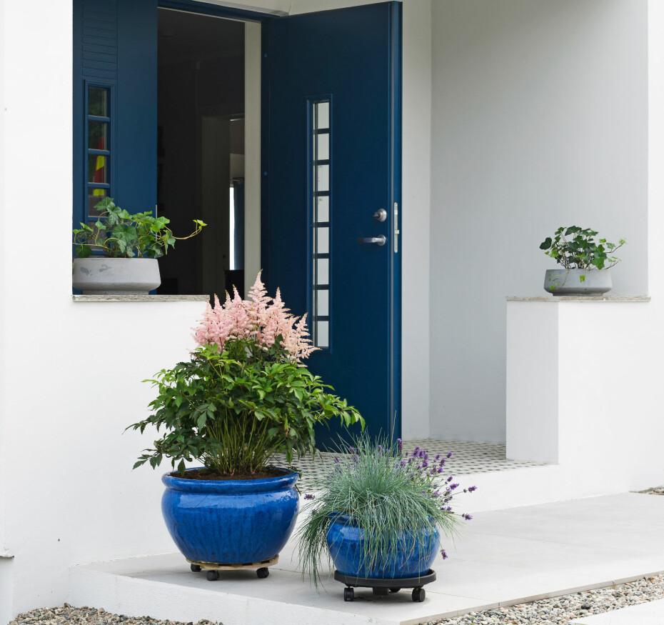 FASADEFORANDRING forbindelse med fasadeendringen, ble det også gjort en betydelig oppussing. Igjen er kantene rette og jevne, og hvitfargen ordentlig hvit. Det har gitt beboerne motivasjon til å pynte opp med blomster i krukker og bed