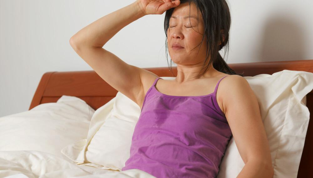 SYMPTOMER DU MÅ TA PÅ ALVOR: Nattesvette som ikke oppstår i forbindelse med overgangsalderen kombinert med generell sykdomsfølelse over tid, er et eksempel på signaler man alltid skal ta på alvor.