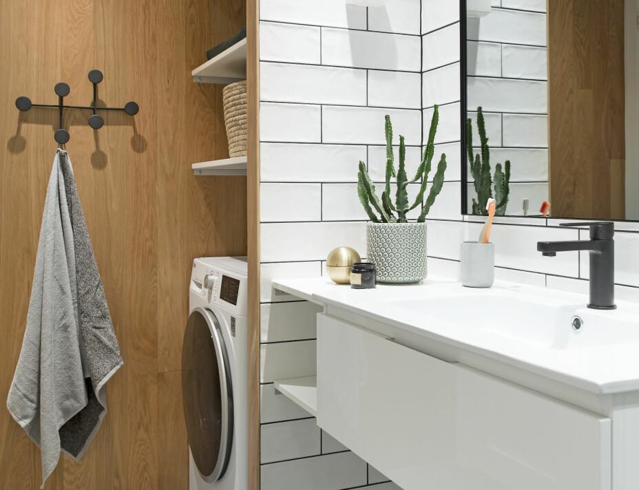 PUSSE OPP LITE BAD: Adele hadde lenge ønsket å bli kvitt dusjforhenget og å få et bad der hun hadde lyst til å være. Ved hjelp av interiørarkitekten fikk hun den baderomsluksusen hun drømte om.