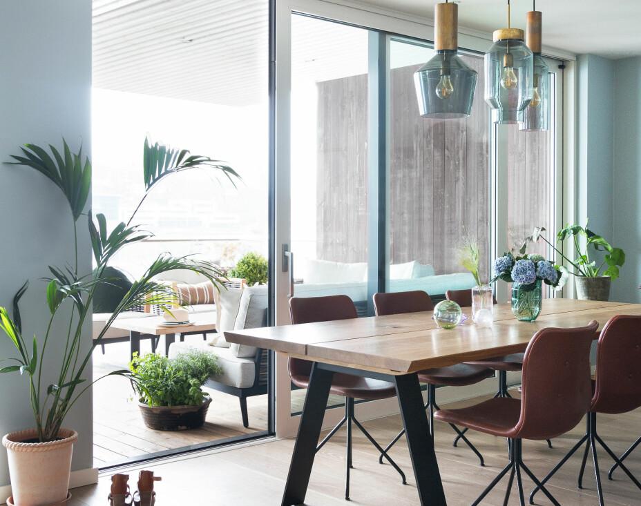 LEILIGHET PÅ SOLSIDEN: Hjemme hos Cecilie og Niels er lite overlatt til tilfeldighetene. I leiligheten ved Skilsø Brygge utenfor Arendal sørger de store vindusflatene for at kjøkken og spisestue bader i lys.