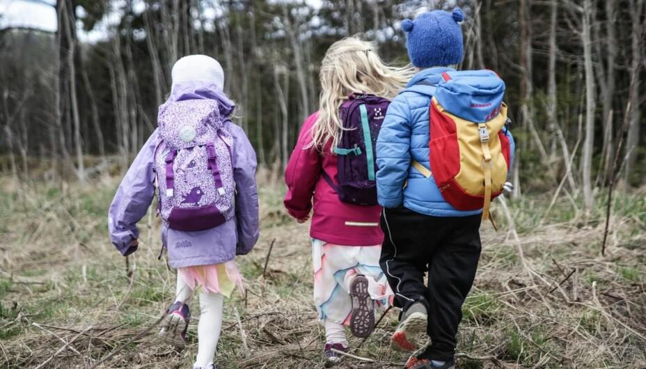 TEST AV BARNEHAGESEKKER: Vi har testet åtte sekker til barn i barnehage.