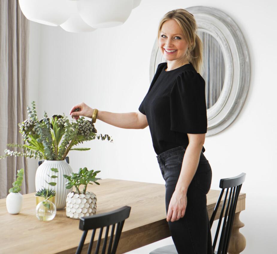 NYTT HUS: Interiørstylist Tina Leqvamb tenker på familien først - og så Instagram - når hun innreder huset.