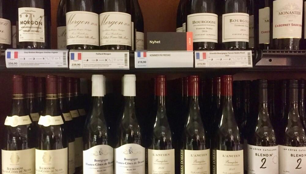BESTE VINKJØP: Frankrike er representert med både Bordeaux, Burgund og Rhône i slippet.
