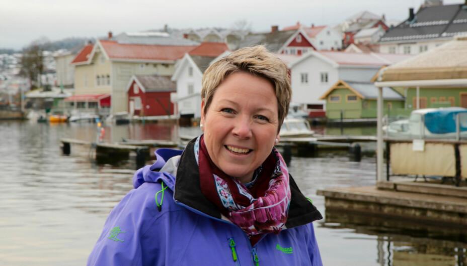 FIKK ADHD-DIAGNOSE SOM VOKSEN: Irene fikk ADHD-diagnosen i voksen alder. I dag lever hun et godt liv i den lille kystbyen Brevik utenfor Porsgrunn.