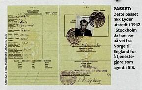 Passet Hassel fikk utstedet i Stockholm, på vei til England for å bli agent i SIS.