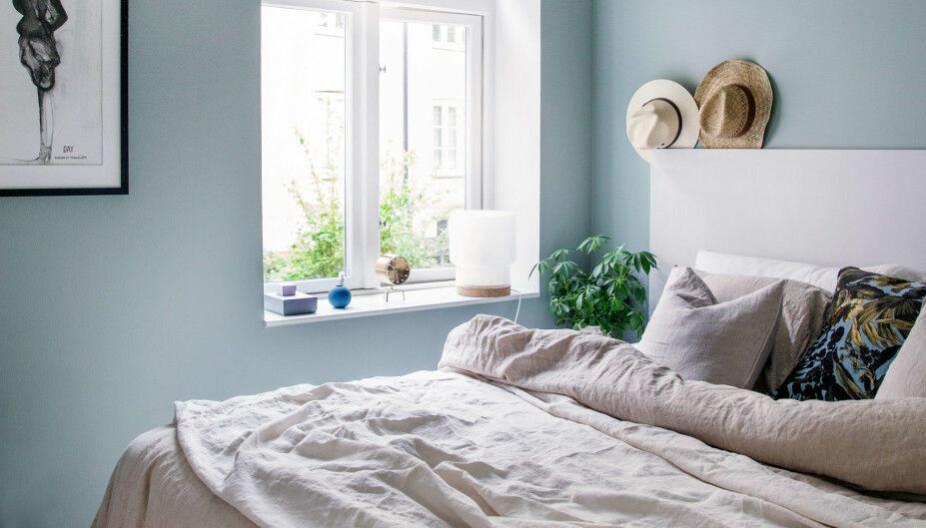 INNREDE LITE SOVEROM: Om man har et lite soverom kan man like gjerne akseptere at det er lite og gjøre det koselig, ikke male alt hvitt og håpe at det vil virke kjempestort.