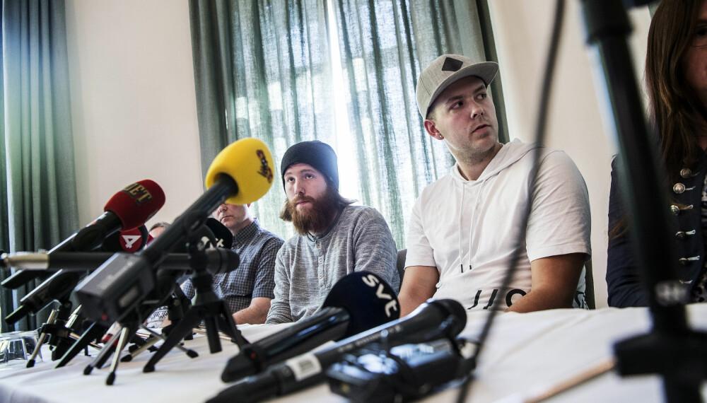 Christian Karlsson og Robin Dahlén på presskonferansen 19 mai 2017