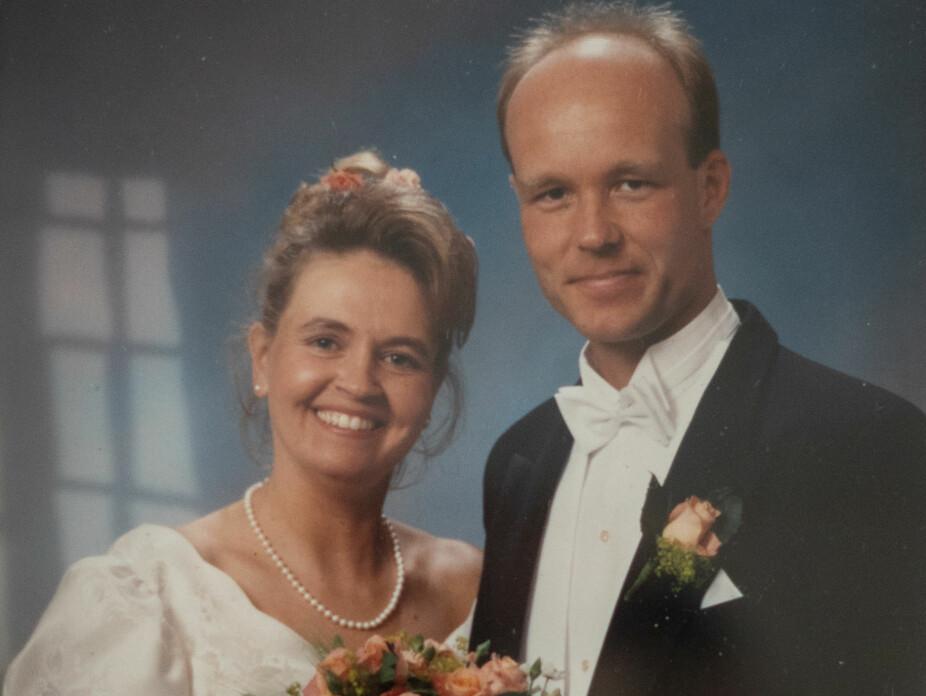 SISTE SMIL: Weines og Evas bryllupsfoto. Bare to måneder etter vielsen skal tilværelsen forvandles til et langt og uvirkelig mareritt.