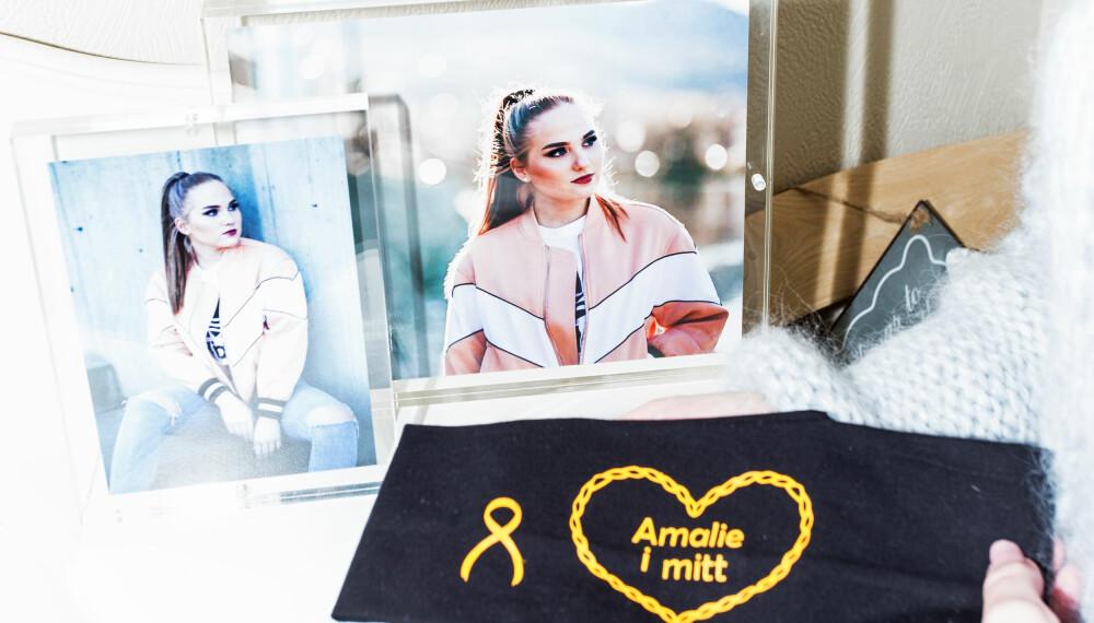 HJERTEGULLET: 28. april løper flere av Amalies venner og familie maraton i Bergen med «Amalie i mitt hjerte» på brystet.