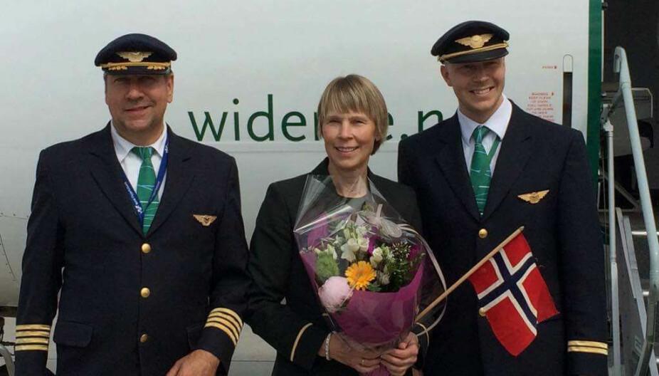 SISTE DAG PÅ JOBB: Flyvertinne Rita Lyngmo mistet søsteren sin Eirin Vibeke i en av Norges største flyulykker i 1988. Dette er hennes siste dag på jobb.