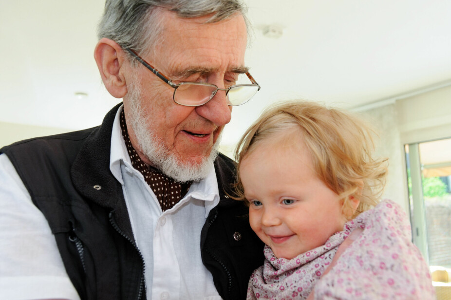 """GODE VENNER: – Anna og """"Moffa"""" hadde fra første stund et spesielt bånd, forteller Helene. I dag er Anna ni år."""