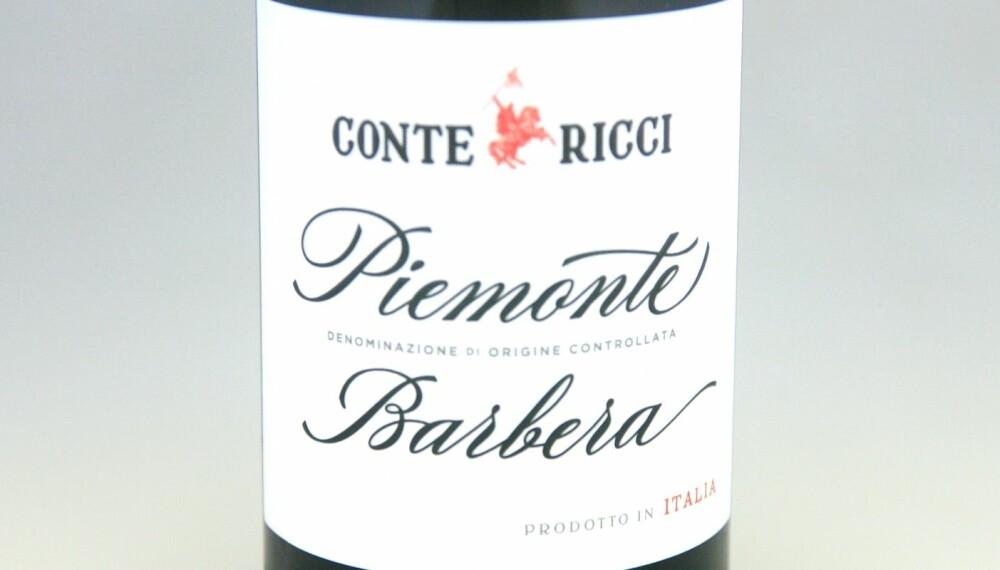 GODT KJØP: Conte Ricci Barbera Piemonte 2016.