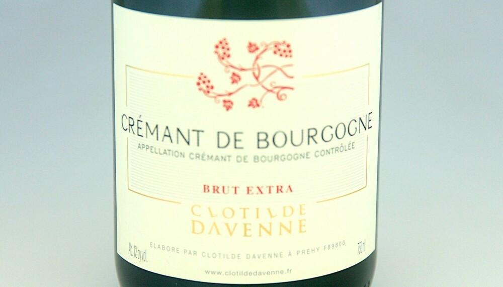 TIL LUTEFISK: Clotilde Davenne Crémant de Bourgogne Extra Brut.