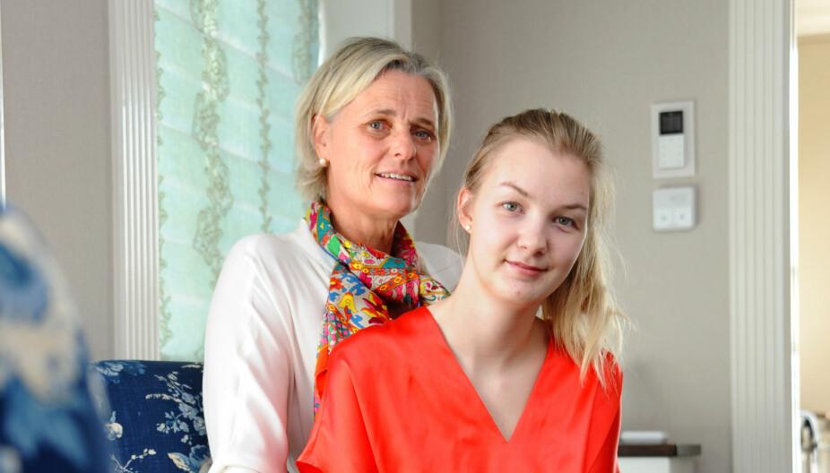 HJEMME HOS MAMMA: Ida bor sammen med kjæresten sin i Bergen, men det er alltid godt å komme hjem til foreldrene i Son.