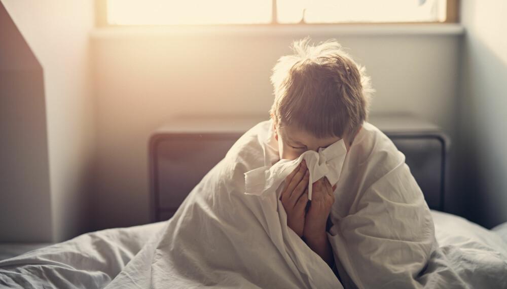 INFLUENSA: Virussykdommen gir helt tydelige, generelle og kroppslige symptomer med muskelverk og hodepine.