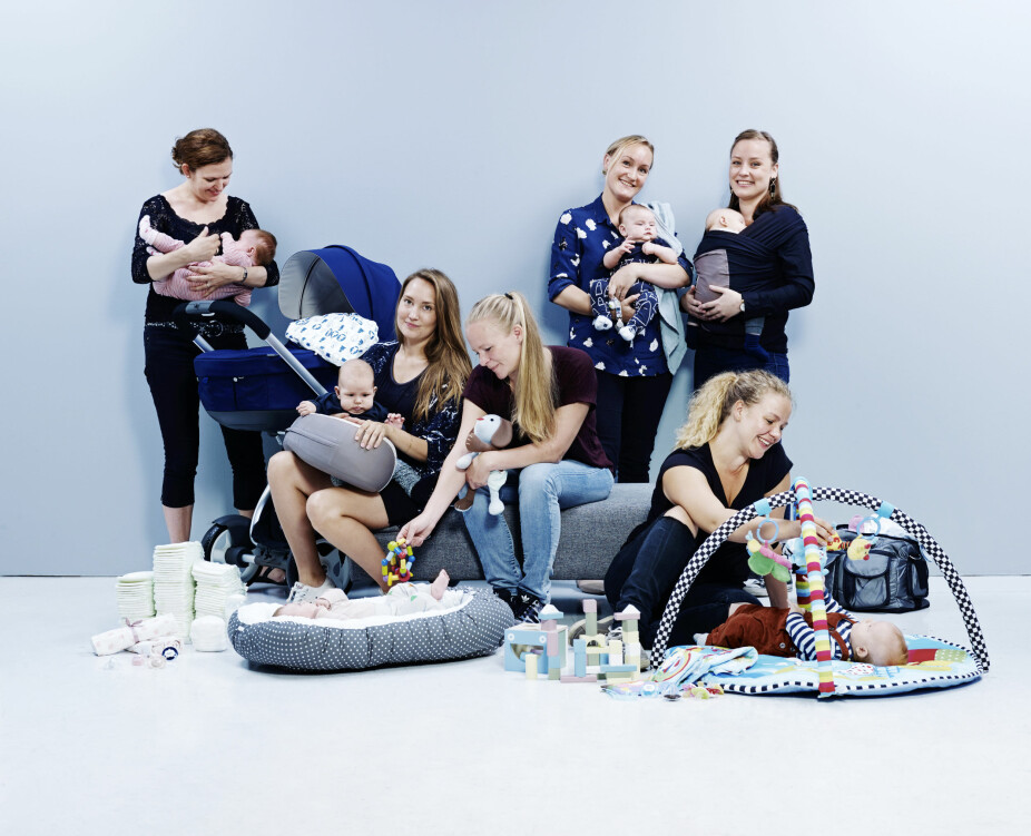 TESTPANEL: Mødrene i barselgruppen er valgt ut og satt sammen til et testpanel som skal teste produkter for baby og barn. De har forskjellige utdannelser og jobber, noen er førstegangsmødre, andre har flere barn. Alle har testet alle produktene i saken. Poengsummene er et gjennomsnitt av mødrenes vurderinger.