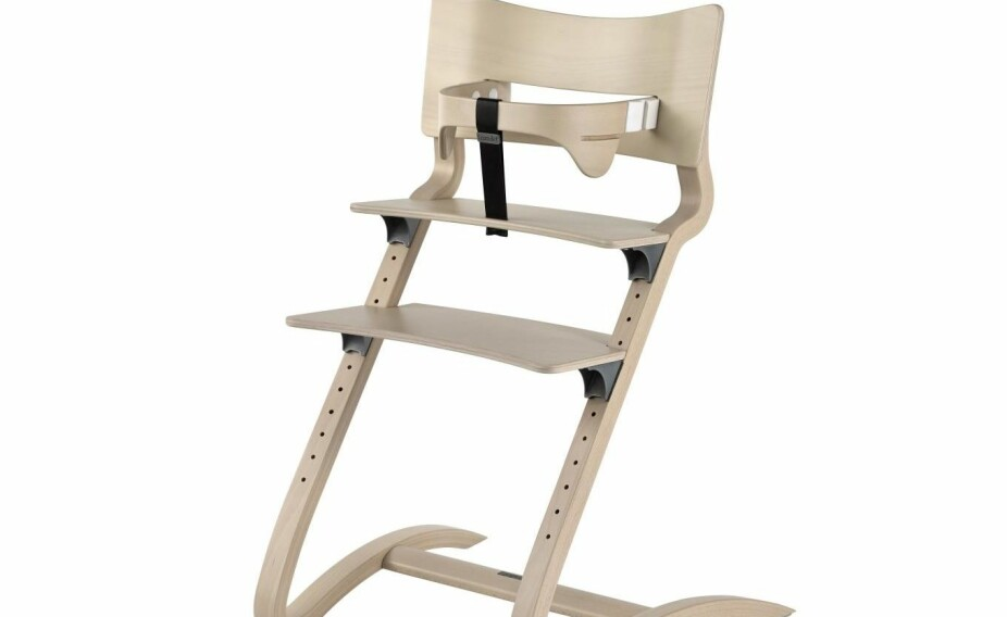 Pen stol som kan brukes fra baby til voksen. Men det trekker litt ned at både rengjøring og justering koster krefter.