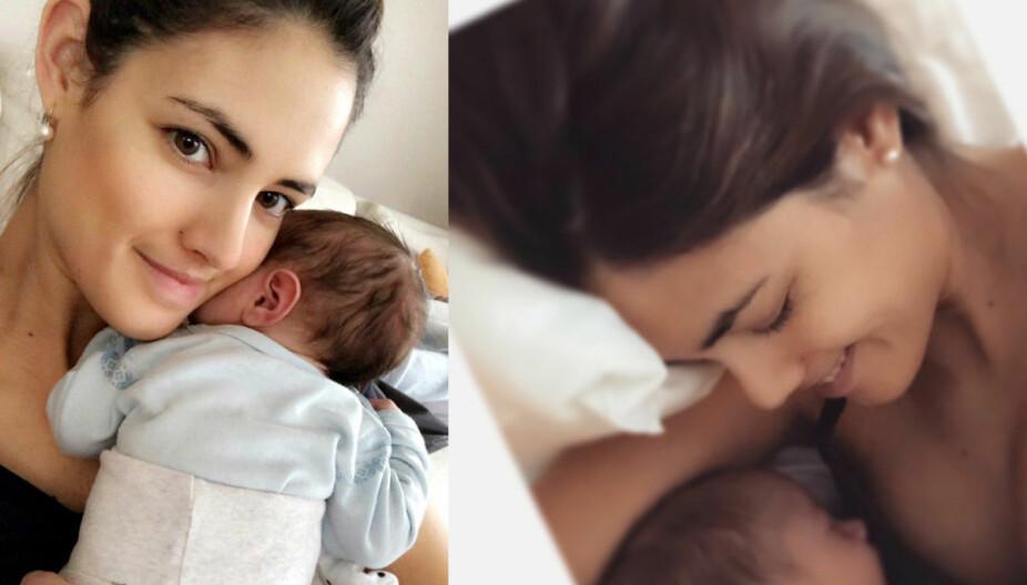Både Samantha Skogrand og Emil Hegle Svendsen måtte ty til tårene under fødselen, men da den lille gutten var født var foreldrene i lykkerus.
