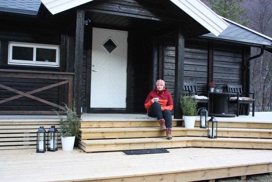 IKKE FIBER: Storskog i Nord-Troms, der Ellen Rydningen har hytte, har ikke kablet internett. Men bredbånd kan hun få likevel, på grunn av 4G-nettet.