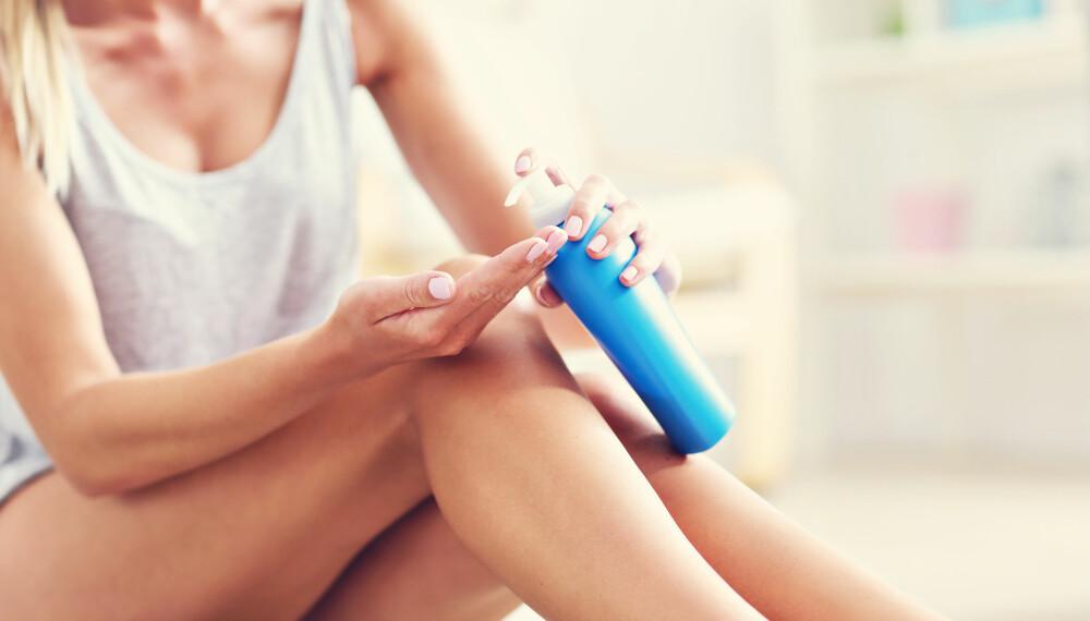 TØRR HUD: Tørr hud kan bli bedre med fuktighetskrem, men av og til kan tørrheten skyldes sykdom.