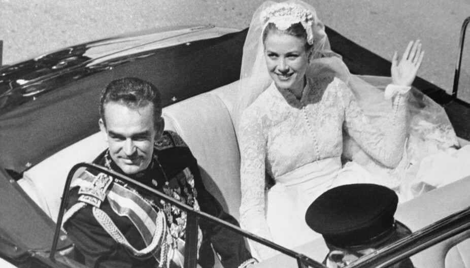 Grace Kelly og Prince Rainier.