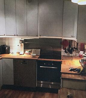 FØR: U-løsningen på kjøkkenet ga lite plass.