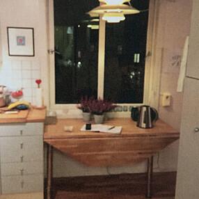 FØR: Spiseplassen var inne på kjøkkenet,