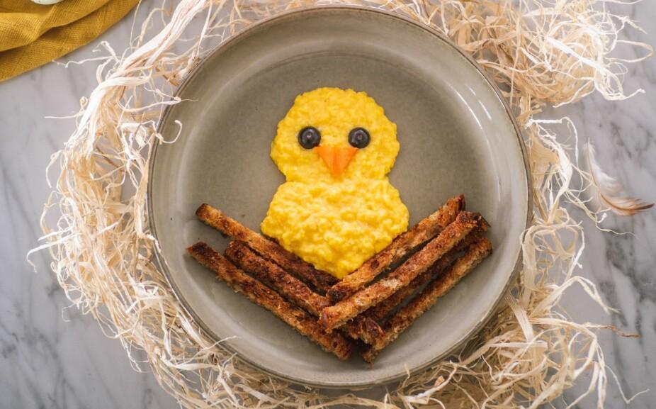<b>UTE AV EGGET:</b> En god og mettende frokost laget av «ekte» påskeegg.