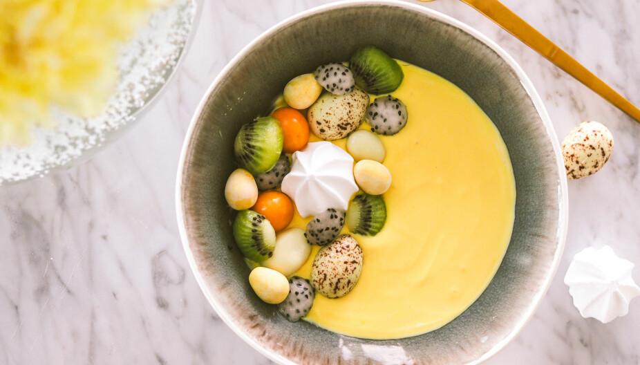 <b>SØT PYNT:</b> Selv smoothien har lov til å være litt usunn når det er påske.