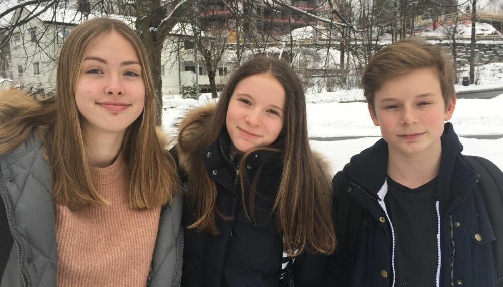 Passe gøy. Anneli, Maja og Ludvig er ikke lenger så glade i å dra på hytta. Men får de med en venn, kan de kanskje gjøre et unntak.