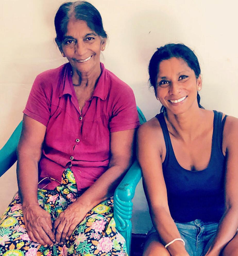 FANT SIN BIOLOGISKE MAMMA PÅ SRI LANKA: Anja Leela Hageler ble adoptert fra Sri Lanka da hun var et år. Hun er oppvokst på Steinkjer. Nå har hun besøkt sin biologiske mor og søsken i Sri Lanka..