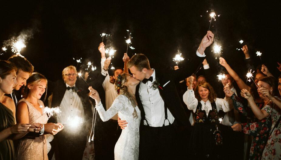 Vi avsluttet en fantastisk og  uforglemmelig dag med stjerneskudd!