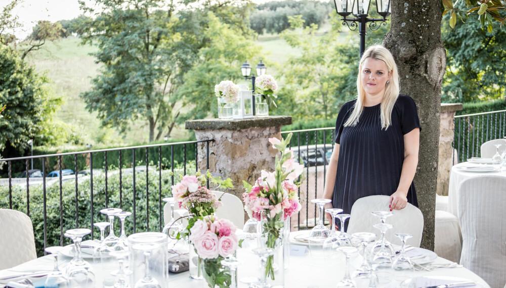 Camilla Møller er bryllupsplanlegger i Roma.