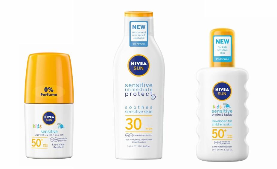 VELG RIKTIG SOLKREM: Se hele utvalget av NIVEAS solpleieprodukter på nivea.no