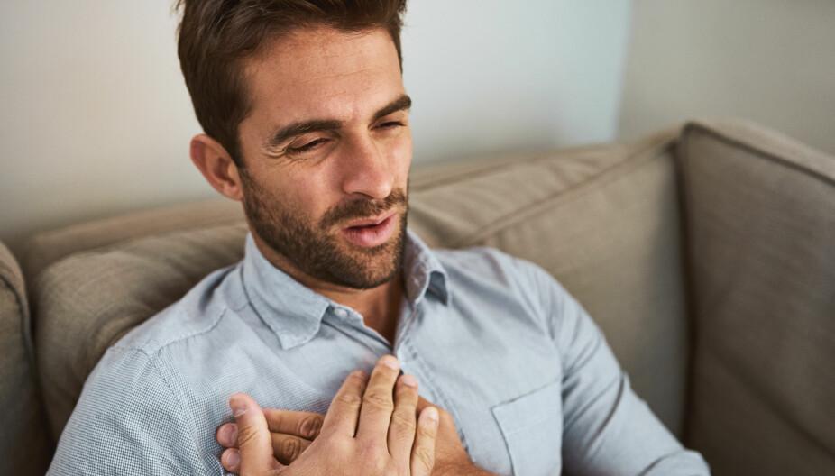 TUNG PUST: Feber, tung pust og hoste med slim kan tyde på lungebetennelse.