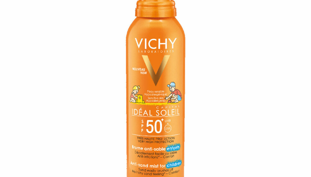 VICHY IDÉAL SOLEIL ANTI-SAND MIST KIDS SPF 50+: Får testkarakter C.