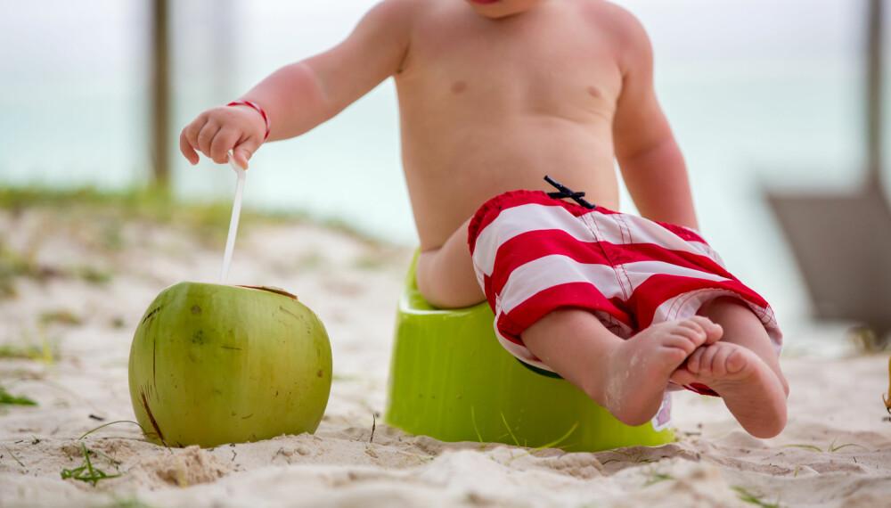 POTTETRENING UTEN STRESS: Det kan være lettere å få til faste tider til å øve på do eller potte når hele familien har fri.