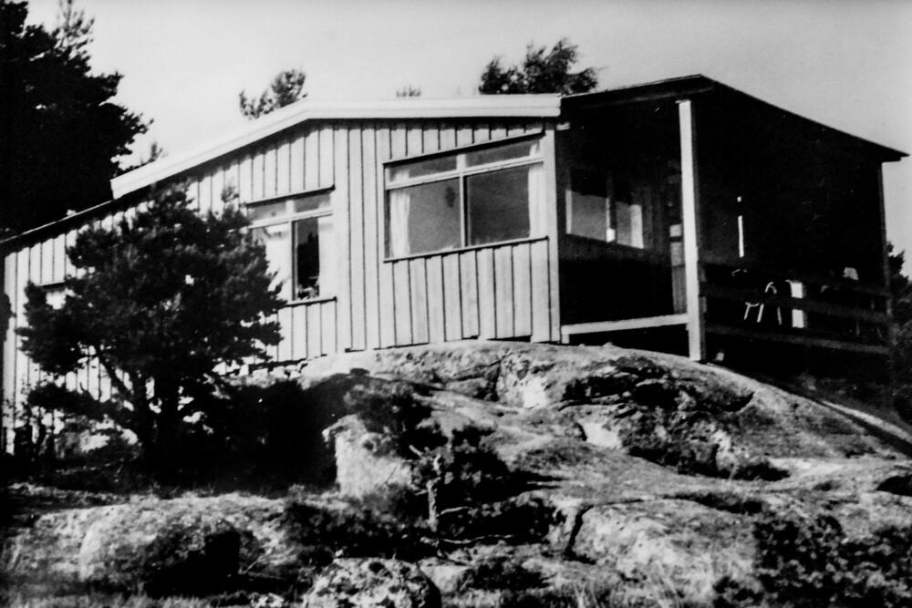 <b>FØR:</b> Hytta på Hvaler er bygget i 1957. Foto: Privat